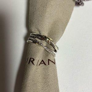 David yurman single x crossover ring with 925&18k